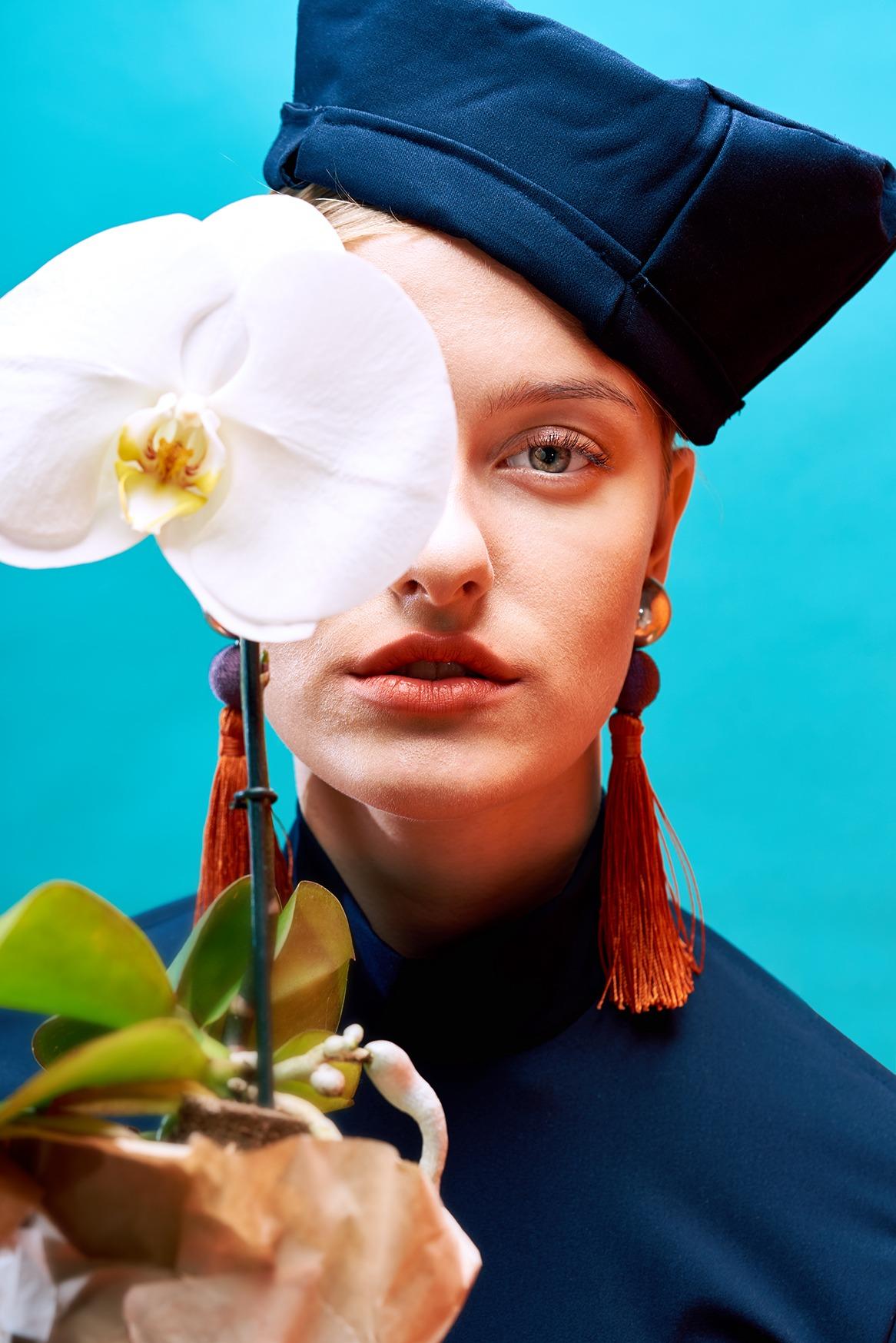 Modefotografie straubmuellerstudios Stuttgart frau blau